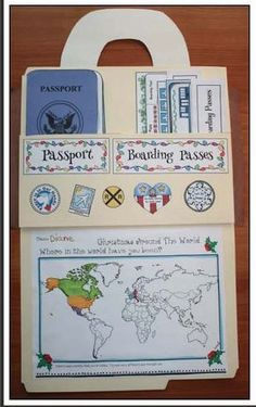 """""""Around The World Travels!"""" Includes Christmas Around The World Too Christmas Around The World activities, Xmas around the world activities, Christmas crafts, geography activities for early elementary Geography Activities, Teaching Geography, Social Studies Activities, World Geography, Teaching Social Studies, Preschool Activities, Travel Activities, Geography For Kids, Group Activities"""