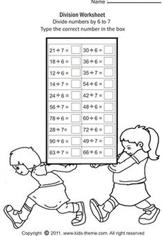 Free printable math worksheets on multiplication: multiply numbers by 8 to by multiplication practice worksheets for kids in grade 2 and grade 3 of elementary or primary school. Free Printable Math Worksheets, Multiplication Worksheets, Math Division, School Images, Education Quotes For Teachers, Kids Writing, Math Activities, Tricks, Homeschool