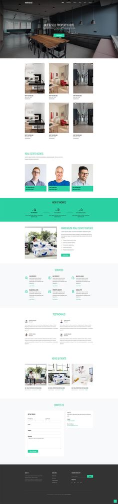 Free Resource to explore your imagine Free Website Templates, Html Templates, Real Estate Agency, Real Estate Broker, Free Web Design, Warehouse, Design Ideas, Real Estate Office, Magazine