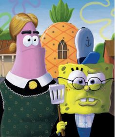 SpongeBob and co. as famous paintings   Arethemost.com