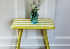 Painting A Chevron Table