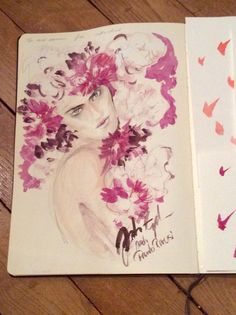 Fashion illustration JOHANNA RIPLINGER inspired by Paolo Riversi #bloom #color #illustration #fashion