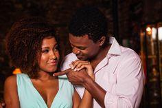 Jéssica Moraes e David Junior no musical Quando a gente ama