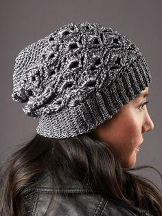 Silver Screen Hat and Scarf | Yarn | Free Knitting Patterns | Crochet Patterns | Yarnspirations
