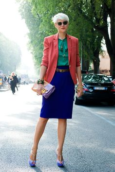 Do iT Like Coco: Street Chic in Fashion Capitals-Elisa Nalin Colourful Outfits, Colorful Fashion, Elisa Nalin, Street Chic, Street Style, Color Blocking Outfits, Gamine Style, Advanced Style, Cool Style