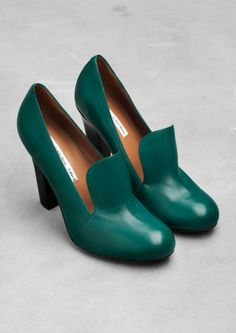 Leather loafer pumps   & Other Stories