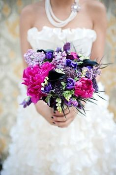 Pretty dress and bouquet