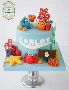 Nemo cake, I like the name idea and number on this one