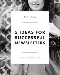 5 Tips for Improving Your Email Newsletters, quick tips to get your newsletter from blah to fab. Use Oak Creative E-mail Marketing, Marketing Digital, Marketing Website, Email Marketing Design, Email Marketing Strategy, Business Marketing, Content Marketing, Internet Marketing, Online Business