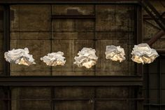 A Cloudlike Lamp You Can Reshape Yourself.  Margje Teeuwen has collaborated with Erwin Zwiers to create Proplamp, a lamp made from a biodegradable non-woven material that you can 'crush' to tailor-make your own design.