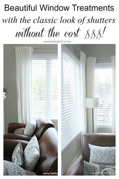These are GORGEOUS! Beautiful double bevel edge horizontal blinds, window treatments with the CLASSIC look of shutters WITHOUT the big price tag!!!