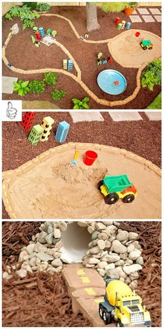 DIY Kids Race Car Track Ideas & Tutorials - DIY Backyard Play Area Ideas Tutorial