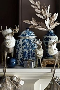 This grand buck commands attention on your mantel or table, shimmering like the season itself.