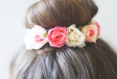 DIY Rosebud Bun Flair