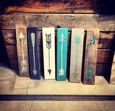 @Abby Christine Christine Bement beautiful planks with painted arrows