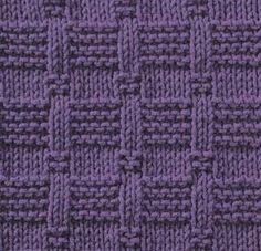 Knitting Stitch Pattern Index : Lattice with seed stitch - Square knitting pattern Knit and Purl combinatio...