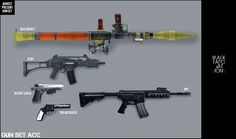 BlackLE - Gun Set #Sims3