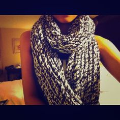 Last Chance H&M Extra Long Black Knit Scarf