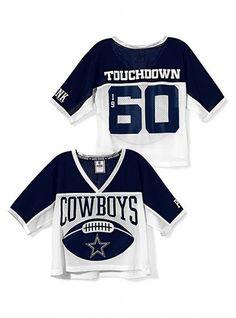 b9e6ef16c Dallas Cowboys Shrunken Jersey - Victoria's Secret PINK® - Victoria's Secret  $39.50 Cute Workout Outfits