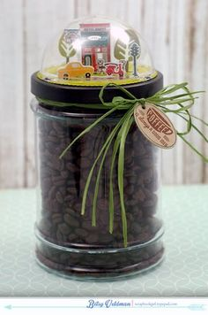 Coffee Jar by Betsy Veldman for Papertrey Ink (July 2015)