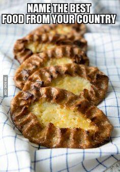 I'm going to start with Karjalanpiirakka (Karelian pasty) from Finland