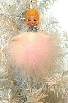 Vintage Pink Angel in Spun Cotton by AquaMarineQueen on Etsy