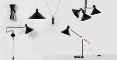 Ogilvy wandlamp, mat zwart en messing | made.com