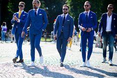 Blue Suit Men