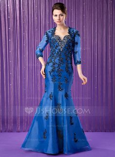 Mother of the Bride Dresses - $172.99 - Trumpet/Mermaid Sweetheart Floor-Length Organza Mother of the Bride Dress With Embroidered Beading (008018985) http://jjshouse.com/Trumpet-Mermaid-Sweetheart-Floor-Length-Organza-Mother-Of-The-Bride-Dress-With-Embroidered-Beading-008018985-g18985?snsref=pt&utm_content=pt