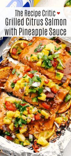 Citrus Salmon Recipe, Salmon Bites Recipe, Grilled Salmon Recipes, Tilapia Recipes, Fish Recipes, Seafood Recipes, Hawaiian Recipes, Meat Recipes