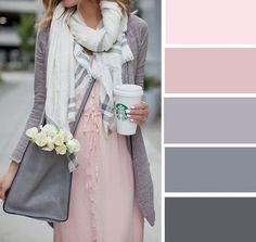 Pink and Gray color palette Colour Pallete, Colour Schemes, Color Trends, Color Combos, Color Palettes, Pink Palette, Pastel Colour Palette, Colour Combinations Fashion, Color Combinations For Clothes