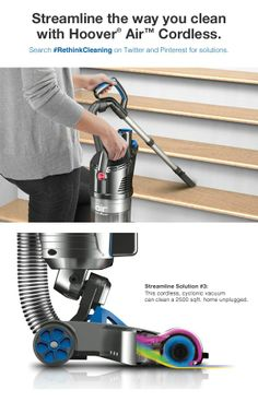 Hoover Air Cordless #RethinkCleaning Sweeps