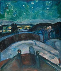 Starry Night 1922–24 / Oil on canvas / 140 x 119 cm Munch Museum