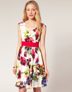 dbc5e92a0917f Ted Baker Anemone Print Sash Dress at asos.com