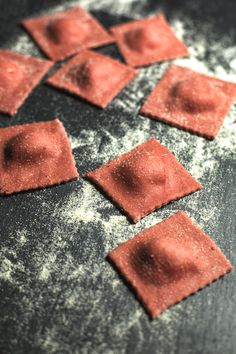 St[v]ory z kuchyne | Beetroot Raviolli with Goat Cheese