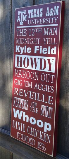 Texas A & M Aggies - message board - the 12th man , midnight yell , howdy , maroon out , gig 'em aggies , reville , keepers of the spirit , whoop , dixie chicken