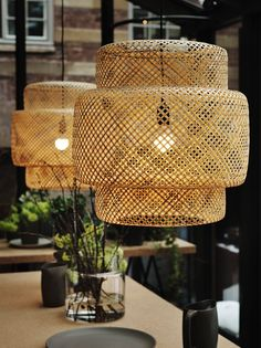 Love these lamp shades- Ilse Crawford Sinnerlig collection for Ikea.
