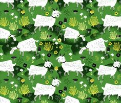 Goats by Andrea Lauren fabric by andrea_lauren on Spoonflower - custom fabric