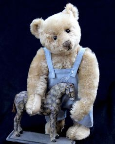 "ANTIQUE 16"" STEIFF TEDDY BEAR c1908–OUTSTANDING MUSEUM QUALITY! FF EAR BUTTON! #Steiff"