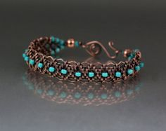 The Snake weave is a very beautiful and versatile weave. I have found numerous applications for using it in jewelry making that not only add interesting detail but also strength to the piece. In this tutorial we will be applying it to the border of a bracelet that features double drilled stone. The finishing of the bracelet is a classic criss cross with a double wrapped loop hook and eye. This bracelet can easily be adjusted for size by adding one or two more stones or adding your own hook…