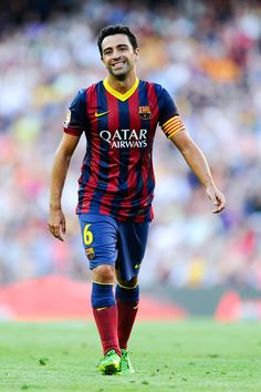 """Xavier """"Xavi"""" Hernández i Creus - FC Barcelona :)  The inventor of modern pivot playing style :) The brain of FCB machine :) The scorer of the last goal for Barca against Almeria (4-1) last sunday!"""