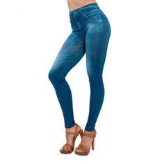 $192 High-Waist-Slim-Jeans-Legging-Women-Plus-Size-Skinny-Pants-Running-Workout