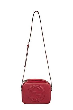 GUCCI WOMEN'S 308364A7M0G6523 RED LEATHER SHOULDER BAG -- Click on the image for additional details.