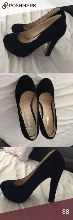 Black high heels Rarely used, like brand new pazzle Shoes Heels