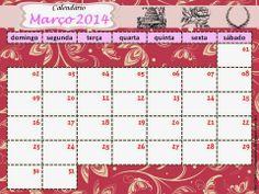 As Tontas Vão Ao Céu: Calendário para Painel da Organização das Moças 2014