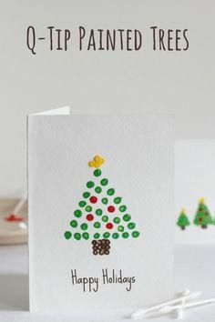 Christmas Card Crafts, Homemade Christmas Cards, Noel Christmas, Christmas Projects, Christmas Decorations, Christmas Card Ideas With Kids, Diy Holiday Cards, Cards Diy, Teacher Christmas Card