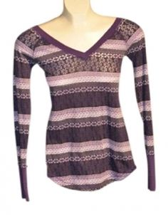 Miley Cyrus Long Sleeved V-Neck Top, size S, $10.50