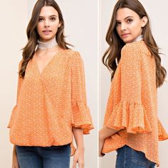 """This flowy bell sleeve top is the perfect effortless floral just in time for spring!      New """"Sweet As Soda Pop"""" top {SML} #shop #blackberryboutique #springlook #utk #govols#ootd #loveit #shoponline #beauty #shopsmall #april #spring #floral"""