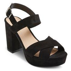 Women's Harlee Platform Heeled Sandals - Mossimo Supply Co. Black