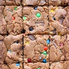 Candy Bar Cookie Bars - Joy the Baker